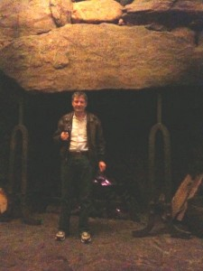 That's me in front of one of the giant fireplaces