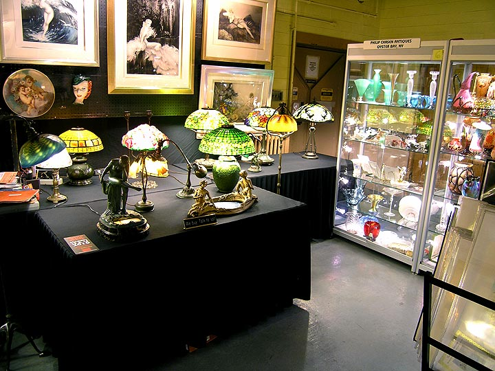 My booth at the Morristown Armory Antiques Show