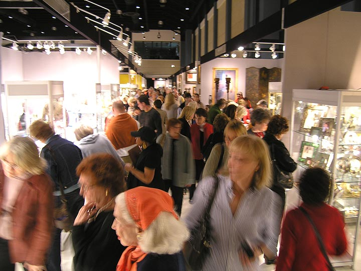 The aisles were jammed at the Palm Beach Jewelry, Art & Antiques Show.