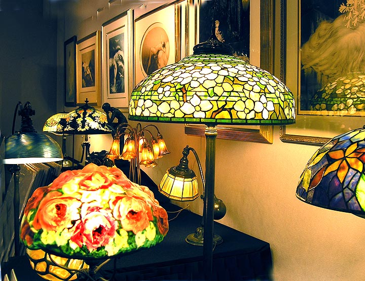 A few of the lamps in my booth