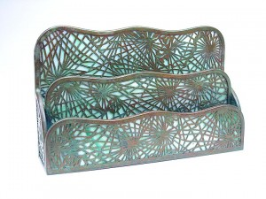 Tiffany Studios Pine Needle paper rack (a smaller version than the one sold at the show)