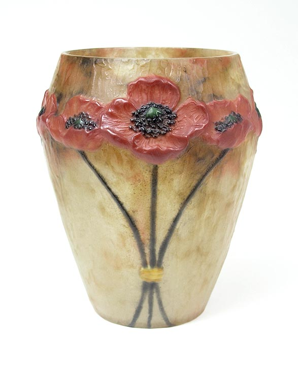 1924 Argy-Rousseau Poppy vase, Catalogue Raisonné No. 24.05