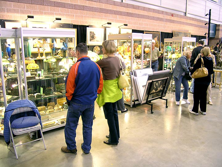 My booth at the Atlantic City Antique Show, 3/28/10