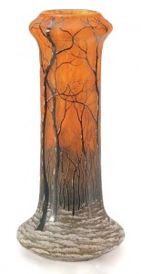 Daum winter scenic vase, Christie's lot 217, March 2, 2010