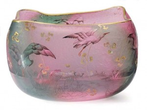 Daum vase with herons, Christie's lot 225, March 2, 2010