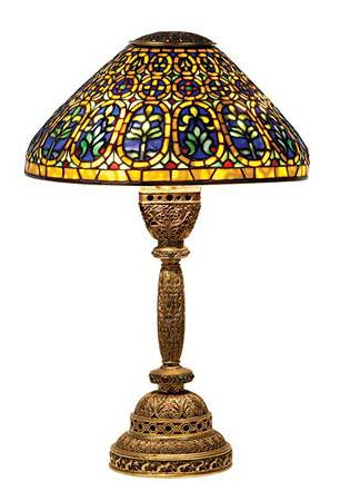 Tiffany Studios Venetian table lamp, Doyle lot #335