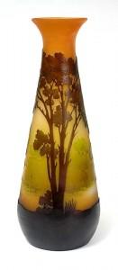 Very attractive Gallé 10-inch scenic vase