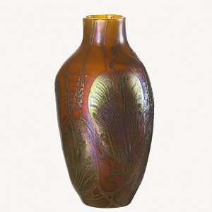 Tiffany Favrile decorated vase, Rago auction, lot 272