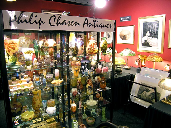 My booth at the Los Angeles Antiques Show, 4/25/10