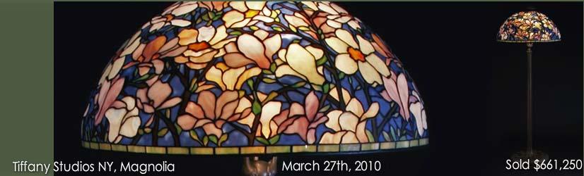 Tiffany Studios Magnolia floor lamp