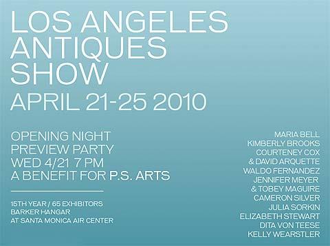 The Los Angeles Antiques Show, April 21-25, 2010