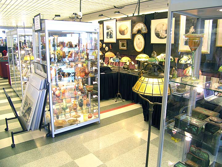 My booth at the Arlington Racetrack Antiques Show