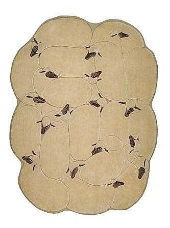 FRANÇOIS-XAVIER LALANNE rug, <i>Les Moutons</i>, Sotheby's Paris, lot 76, May 26, 2010