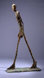 Alberto Giacometti bronze 'Walking Man I', lot Sotheby's London, February 3, 2010