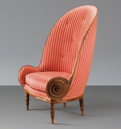 Paul Iribe, 'NAUTILE', a carved walnut armchair, 1913, Sotheby's Paris, lot 9, May 26, 2010