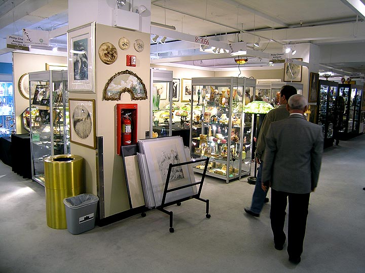 My booth at the Merchandise Mart Antiques Show