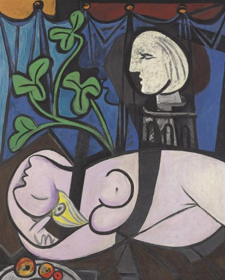Picasso 'Nude, Green Leaves and Bust', Christie's New York, lot 6, May 4. 2010