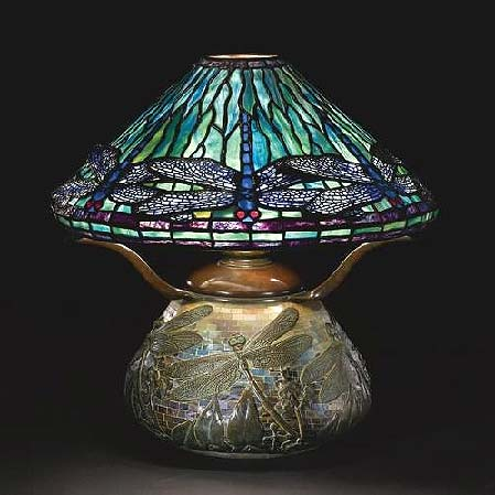 Tiffany Studios Dragonfly table lamp, Sotheby's New York, lot #4, June 16, 2010