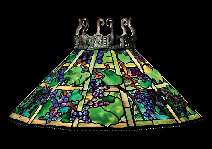 Tiffany Studios Grape chandelier, Christie's lot #45, June 17, 2010