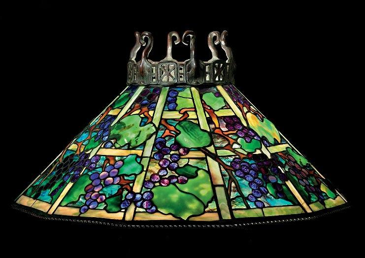 Tiffany Studios Grape chandelier, Christie's lot #45, June 17, 2010