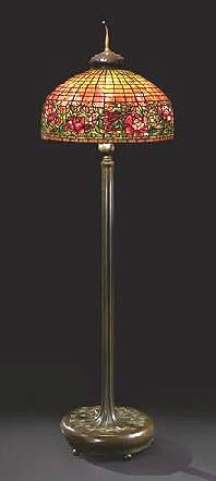 Tiffany Studios 24 inch Peony Border floor lamp, Sotheby's New York, lot #3, June 16, 2010