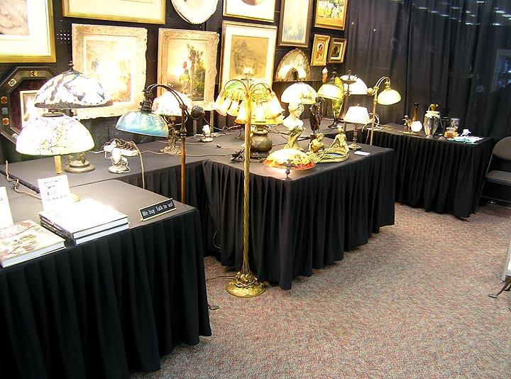 My booth at the Denver Antiques Show, 2:20 PM, Sunday afternoon