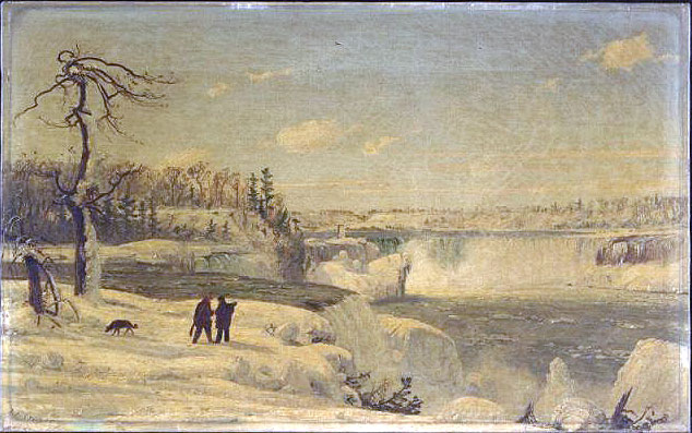 Image result for Jasper Francis Cropsey - Autumn in America and Prospect Point Niagara Falls in Winter