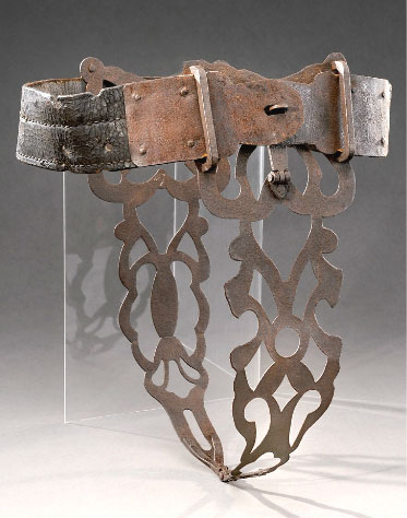 ... really fine 17th Century French chastity belt is coming up for sale