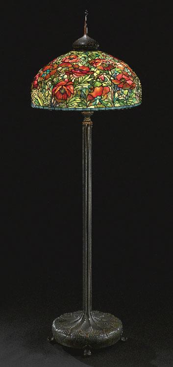 Tiffany Studios Oriental Poppy floor lamp, Sothebys lot #19