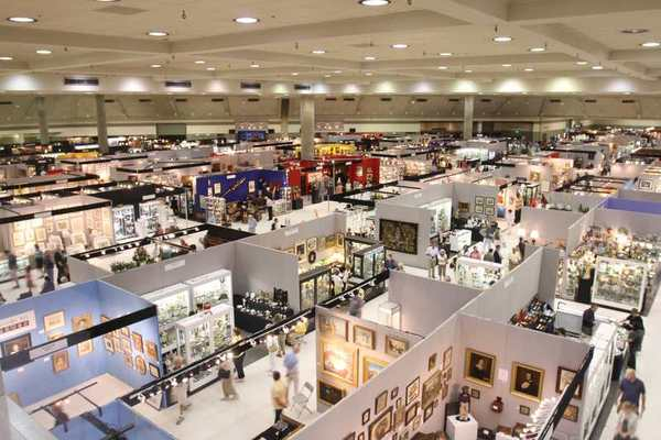 A view of a section of the Baltimore Summer Antiques Show