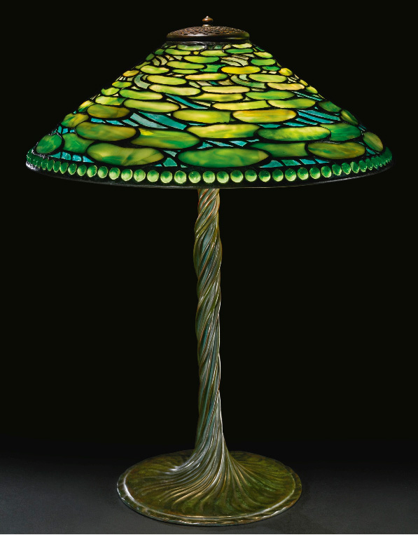 Tiffany Studios Lily Pad table lamp, Sotheby's lot #241