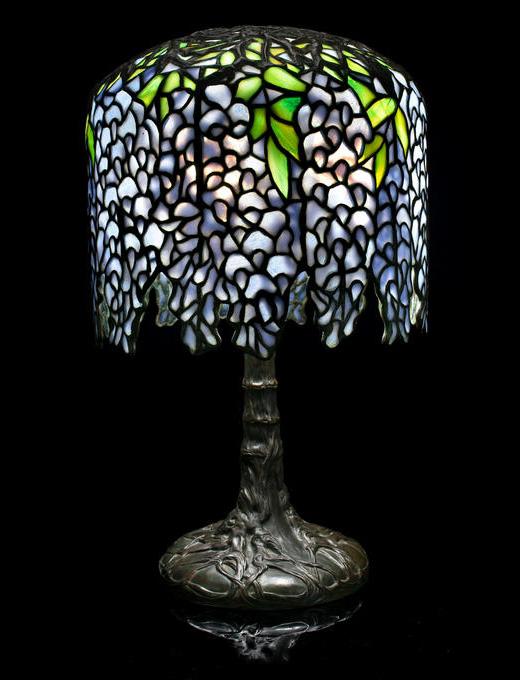 Tiffany Studios Miniature Wisteria table lamp, Bonham's lot #2049