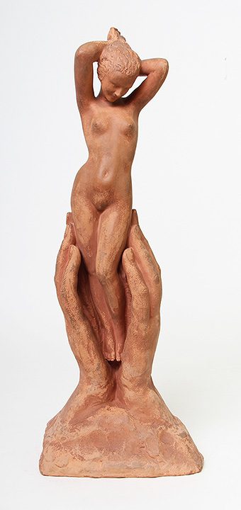 Love this French terra cotta figure by Bouraine