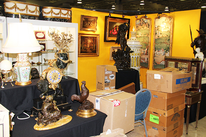 Greenwald Antiques has a high quality, diverse display