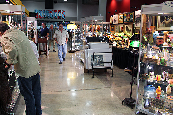 A previous year at the Miami National Antique Show