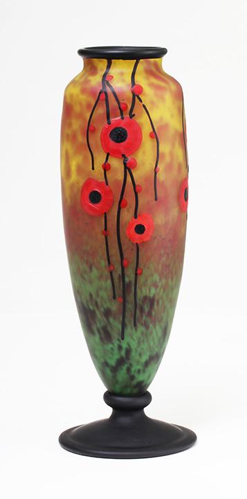 Wonderful Schneider padded and wheel-carved floral vase,sold in 2012