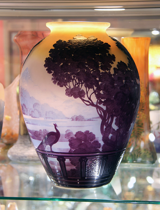 Fabulous, large Galle Lake Como vase, for sale at the show