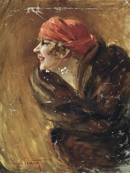 Louis Icart oil painting of Fanny, Christie's lot #465