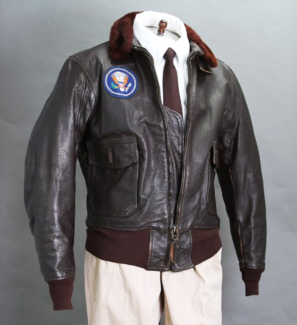 JFK's personal leather bomber jacket, McInnis lot #327