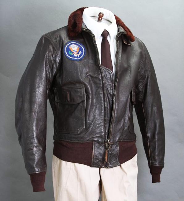 JFK's personal leather bomber jacket, McInnis lot #327