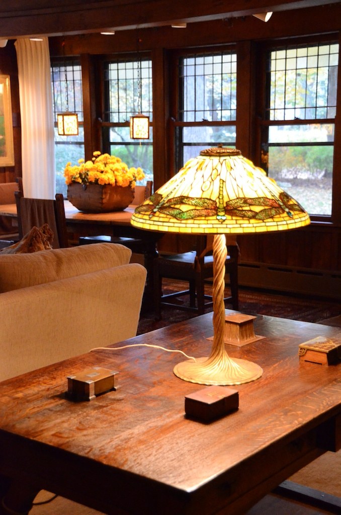 This Tiffany Dragonfly lamp is sold, but I'll have three others at the show
