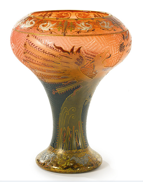 Daum Nancy Dragon vase, Sotheby's lot #101