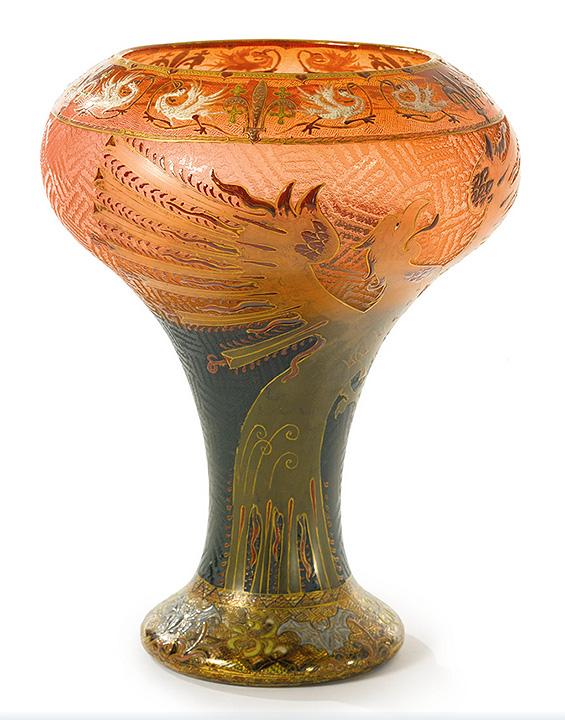 Daum Nancy Dragon vase, Sotheby's lot #101