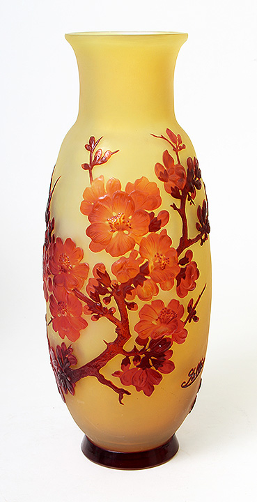 I'll have this great Gallé blownout vase for sale at the show, one of several