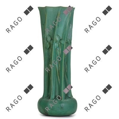 Monumental Teco vase, Rago lot #21