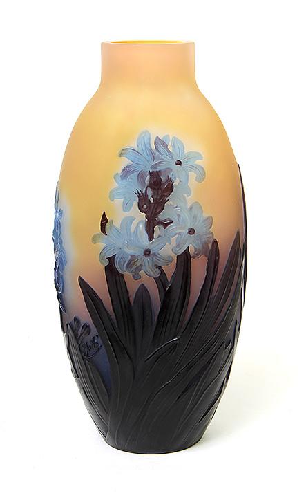 Killer Gallé Hyacinth blownout vase