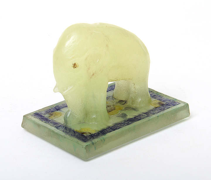 Rare Argy-Rousseau elephant paperweight, just in