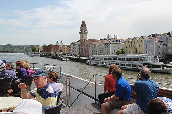 A view of Passau, Germany, from our boat on the Danube