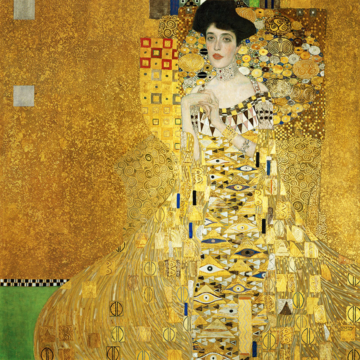 Gustav Klimt painting, Portrait of Adele Block-Bauer