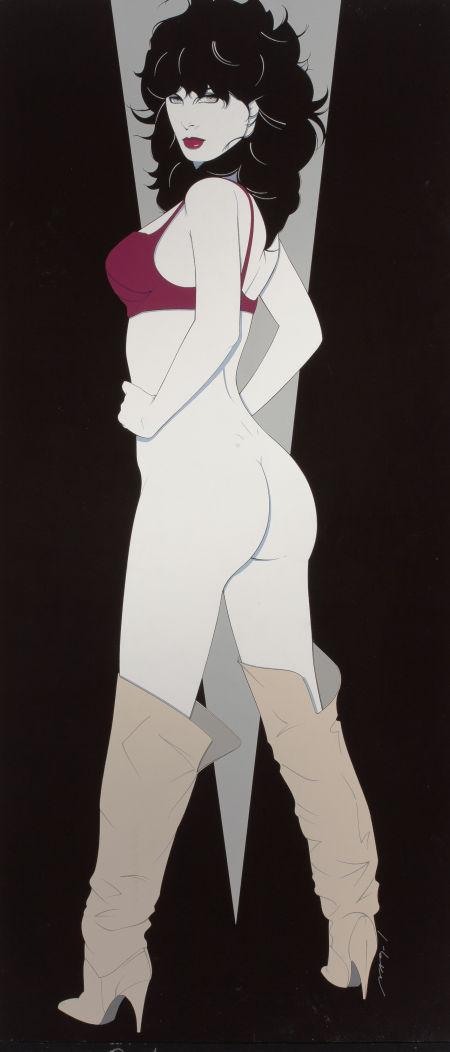 Patrick Nagel painting, Her Seductive Look, Heritage lot #78153